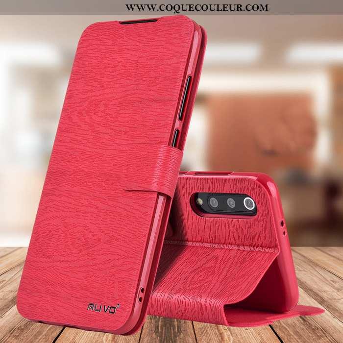 Coque Xiaomi Mi 9 Lite Silicone Petit Cuir, Housse Xiaomi Mi 9 Lite Protection Téléphone Portable Ro