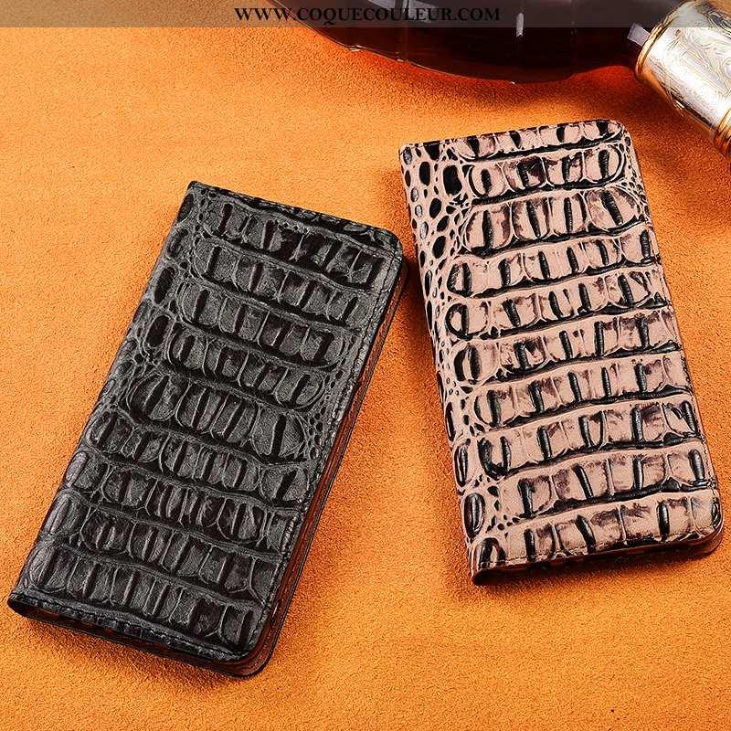 Coque Xiaomi Mi 9 Lite Cuir Véritable Petit Fluide Doux, Housse Xiaomi Mi 9 Lite Cuir Modèle Noir
