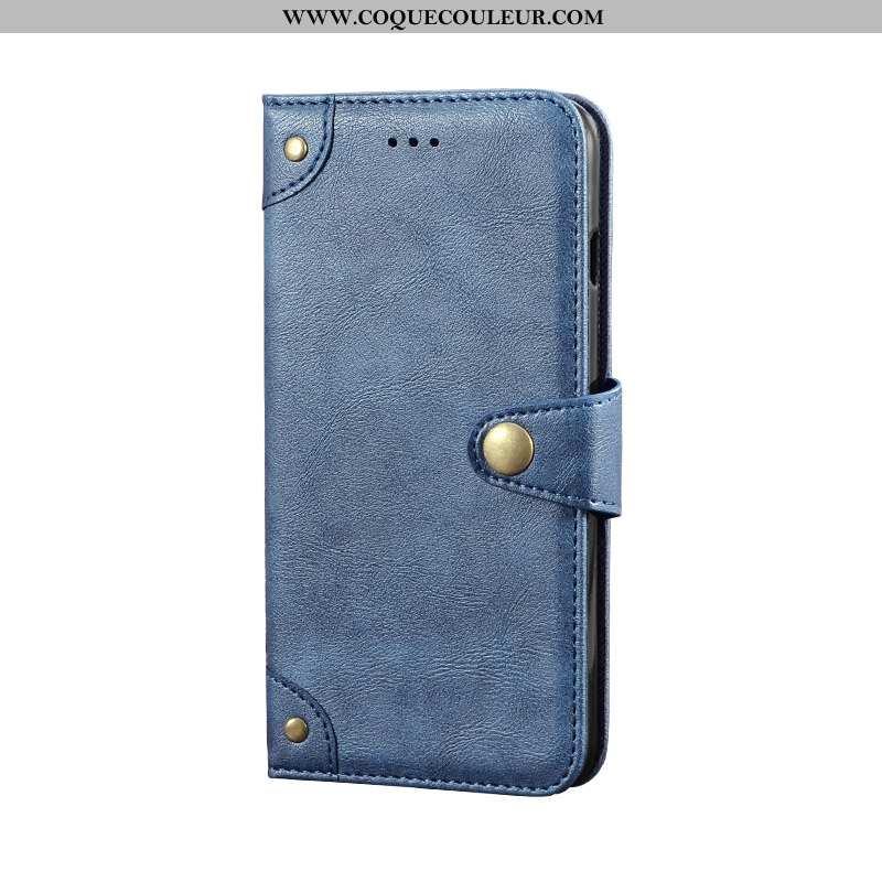 Coque Xiaomi Mi 9 Lite Protection Cuir Petit, Housse Xiaomi Mi 9 Lite Personnalité Bleu