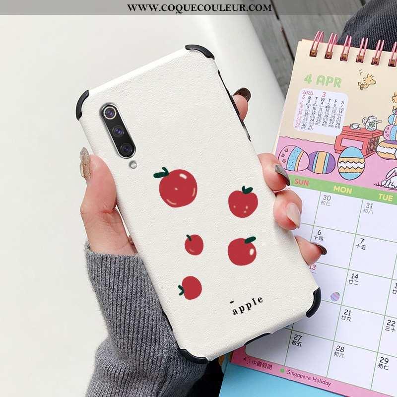 Housse Xiaomi Mi 9 Se Silicone Transparent Citron, Étui Xiaomi Mi 9 Se Protection Cuir Rouge