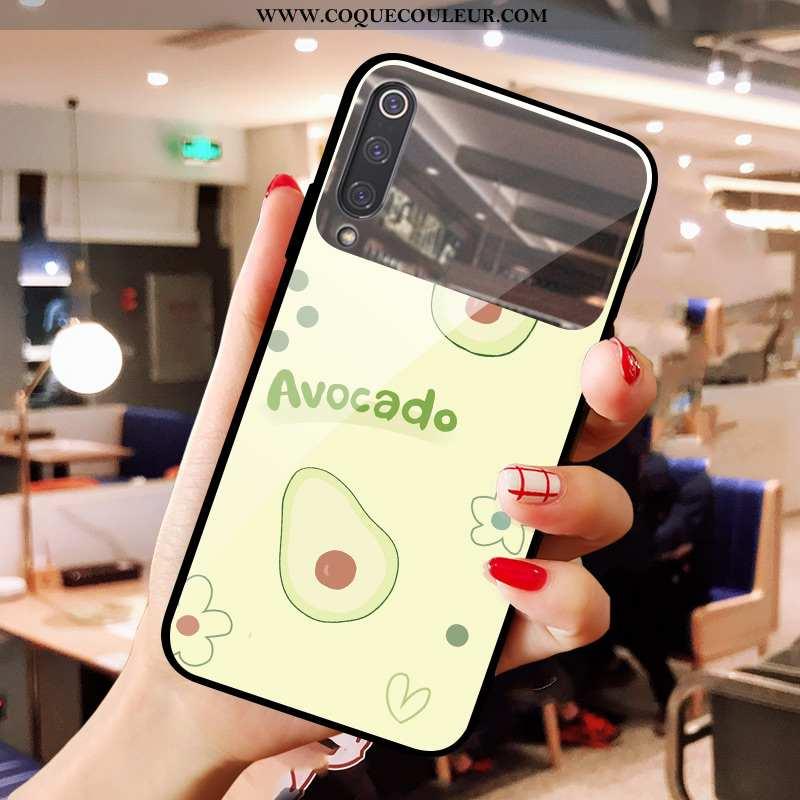 Housse Xiaomi Mi 9 Se Verre Téléphone Portable Frais, Étui Xiaomi Mi 9 Se Miroir Bovins Verte
