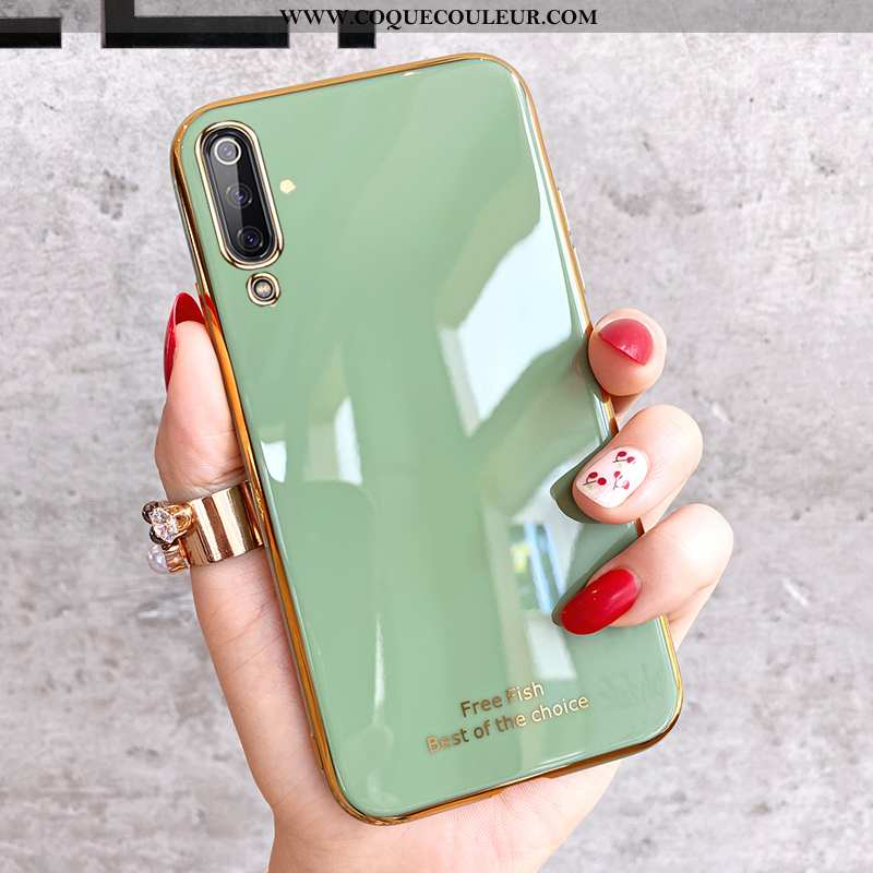 Étui Xiaomi Mi 9 Se Transparent Créatif, Coque Xiaomi Mi 9 Se Personnalité Fluide Doux Verte