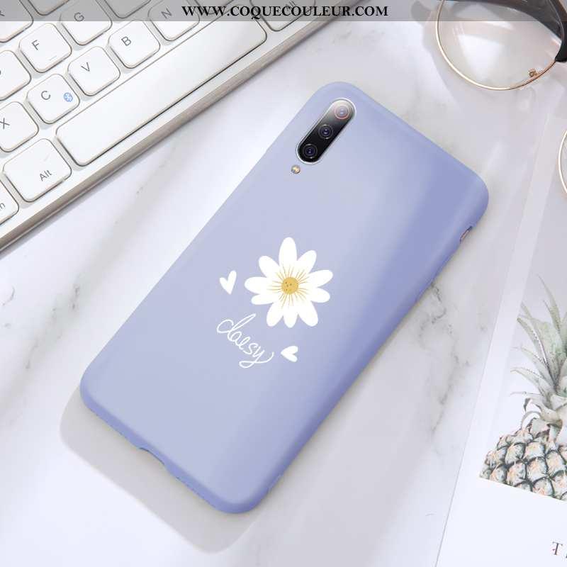 Housse Xiaomi Mi 9 Se Créatif Silicone Étui, Étui Xiaomi Mi 9 Se Ultra Fleurs Bleu