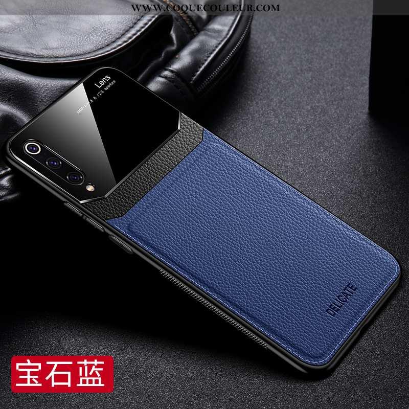 Housse Xiaomi Mi 9 Se Tendance Coque Business, Étui Xiaomi Mi 9 Se Légère Silicone Bleu