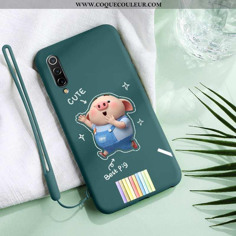 Étui Xiaomi Mi 9 Se Dessin Animé Net Rouge Amoureux, Coque Xiaomi Mi 9 Se Charmant Incassable Bleu
