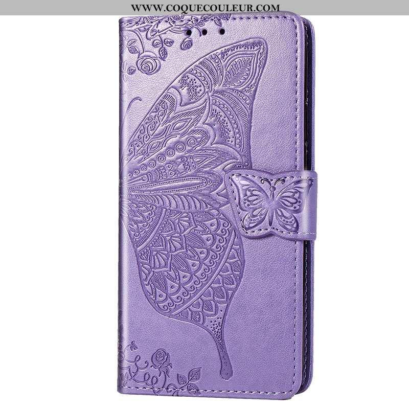 Housse Xiaomi Mi 9 Se Protection Coque Nouveau, Étui Xiaomi Mi 9 Se Cuir Tout Compris Violet