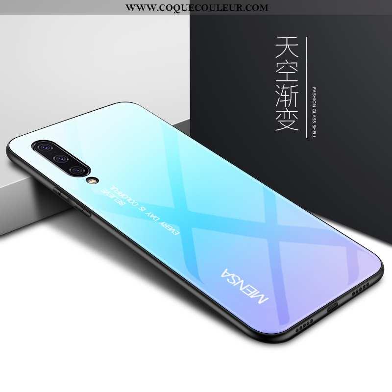 Housse Xiaomi Mi 9 Se Protection Tendance Coque, Étui Xiaomi Mi 9 Se Verre Créatif Bleu