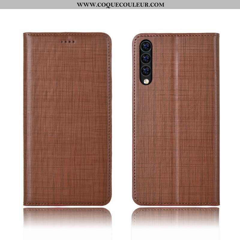 Coque Xiaomi Mi 9 Se Cuir Tout Compris Personnalisé, Housse Xiaomi Mi 9 Se Fluide Doux Marron