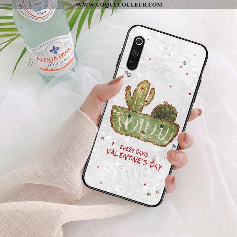 Étui Xiaomi Mi 9 Se Charmant Téléphone Portable Blanc, Coque Xiaomi Mi 9 Se Ultra Vert Blanche