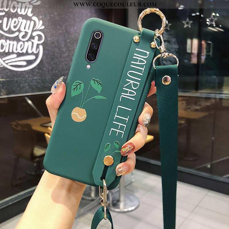Coque Xiaomi Mi 9 Se Protection Personnalisé Silicone, Housse Xiaomi Mi 9 Se Cou Suspendu Verte