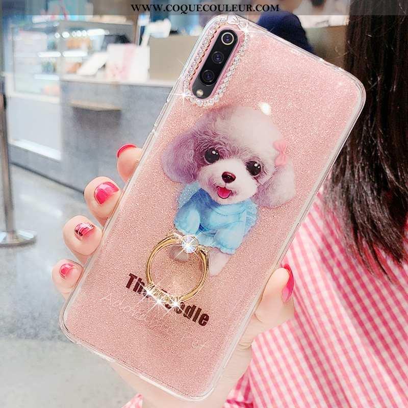 Housse Xiaomi Mi 9 Se Charmant Tout Compris Incassable, Étui Xiaomi Mi 9 Se Tendance Net Rouge Rose