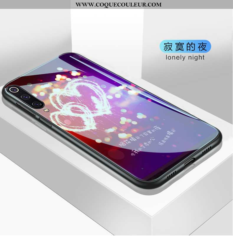Housse Xiaomi Mi 9 Tendance Petit Coque, Étui Xiaomi Mi 9 Fluide Doux Violet