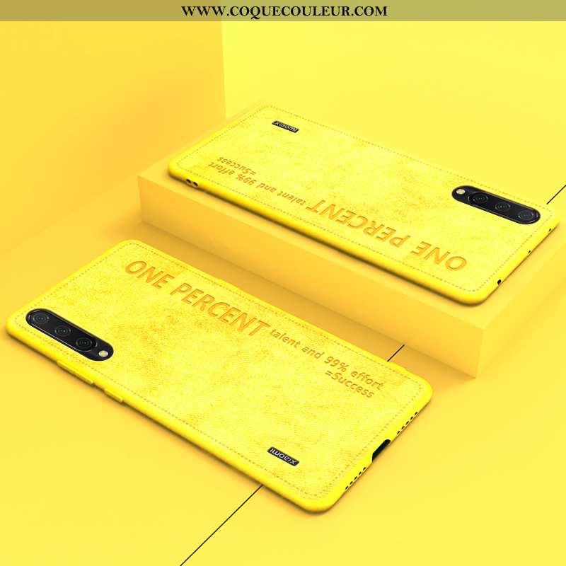 Coque Xiaomi Mi 9 Fluide Doux Original Petit, Housse Xiaomi Mi 9 Protection Étui Jaune