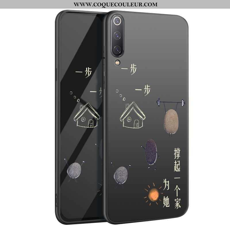 Étui Xiaomi Mi 9 Créatif Net Rouge Fluide Doux, Coque Xiaomi Mi 9 Ultra Téléphone Portable Noir