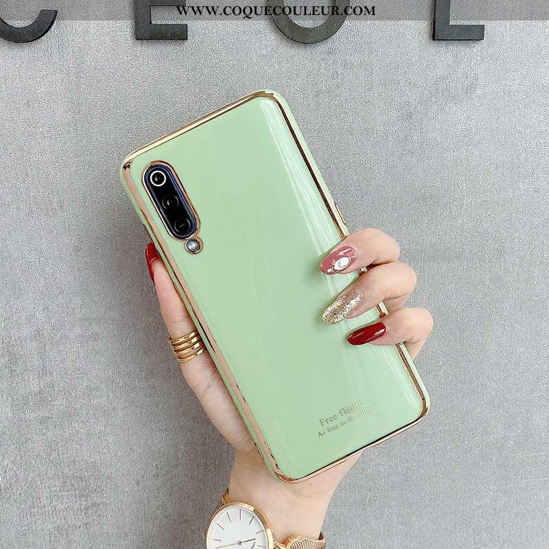 Coque Xiaomi Mi 9 Tendance Fluide Doux, Housse Xiaomi Mi 9 Modèle Fleurie Téléphone Portable Verte