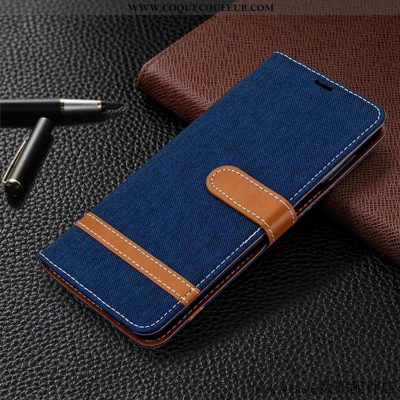 Coque Xiaomi Mi 9 Cuir Téléphone Portable Housse, Housse Xiaomi Mi 9 Bleu Marin Carte Bleu Foncé