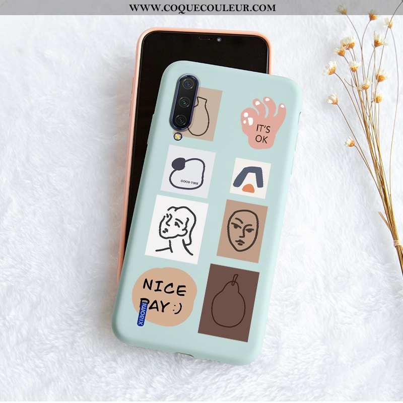 Housse Xiaomi Mi 9 Mode Fluide Doux Créatif, Étui Xiaomi Mi 9 Protection Simple Bleu