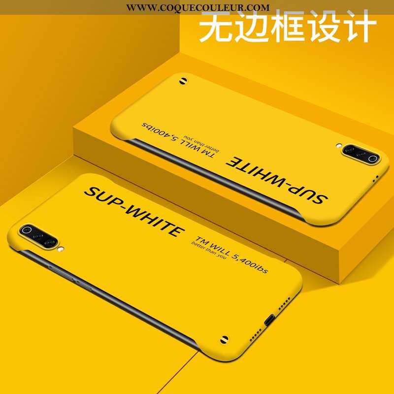 Étui Xiaomi Mi 9 Protection Border Étui, Coque Xiaomi Mi 9 Délavé En Daim Personnalité Jaune