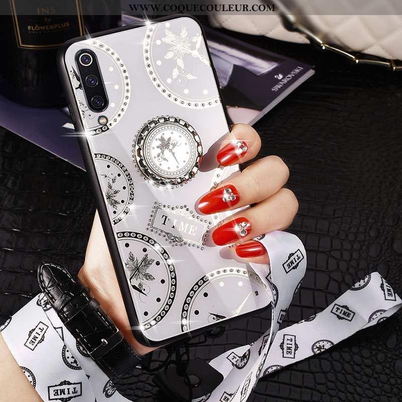 Housse Xiaomi Mi 9 Ornements Suspendus Coque Incassable, Étui Xiaomi Mi 9 Fluide Doux Vent Argent