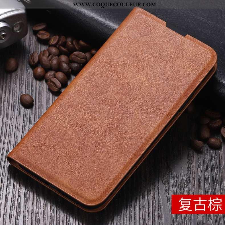Housse Xiaomi Mi 9 Protection Légère Cuir, Étui Xiaomi Mi 9 Tendance Modèle Marron