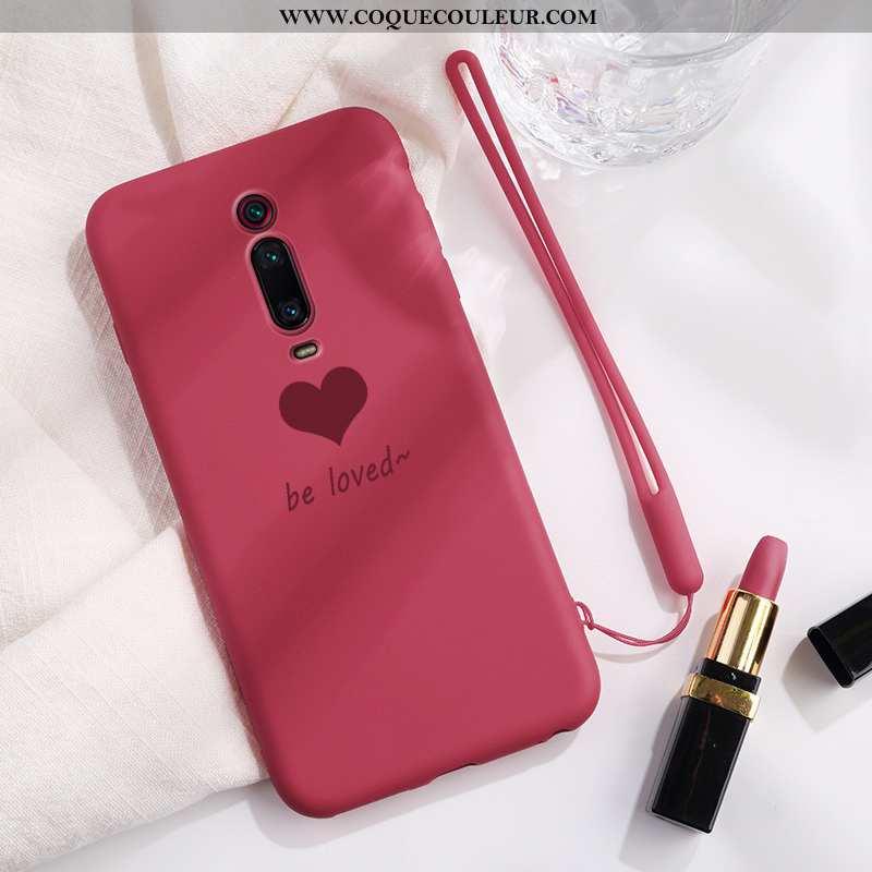 Housse Xiaomi Mi 9t Pro Fluide Doux Protection Coque, Étui Xiaomi Mi 9t Pro Coque En Silicone Rouge