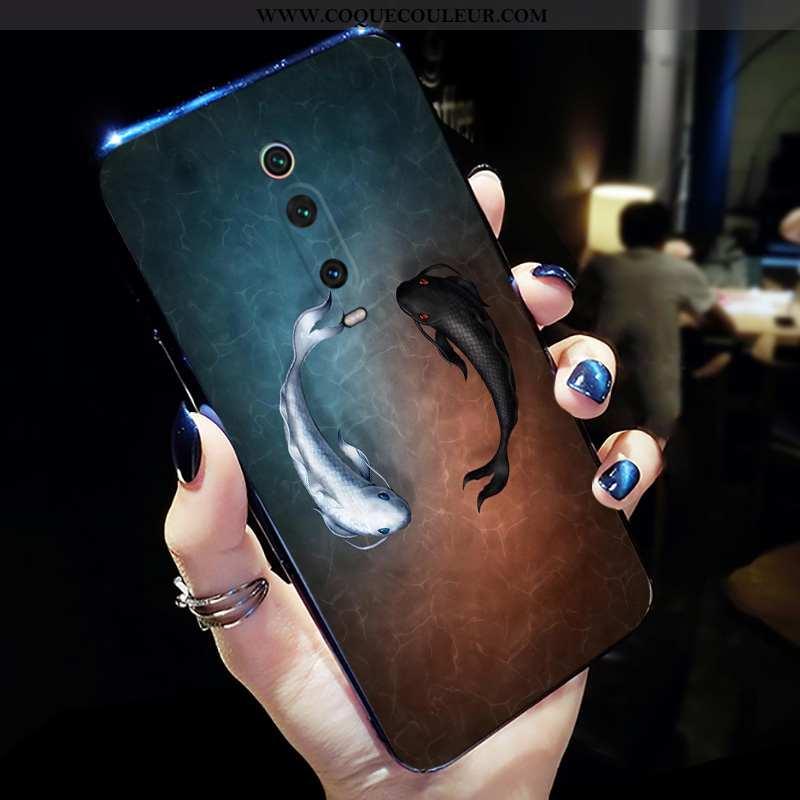 Coque Xiaomi Mi 9t Pro Créatif Incassable Net Rouge, Housse Xiaomi Mi 9t Pro Silicone Nouveau Noir