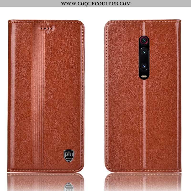 Étui Xiaomi Mi 9t Pro Cuir Véritable Téléphone Portable Housse, Coque Xiaomi Mi 9t Pro Protection Ro