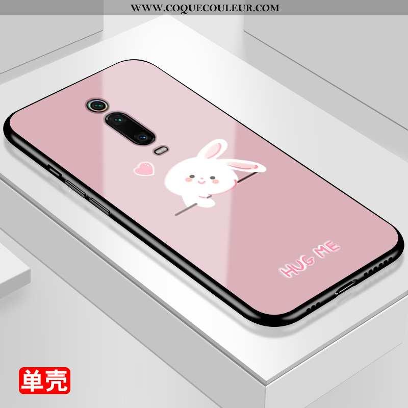 Coque Xiaomi Mi 9t Pro Dessin Animé Incassable Rouge, Housse Xiaomi Mi 9t Pro Protection Rose