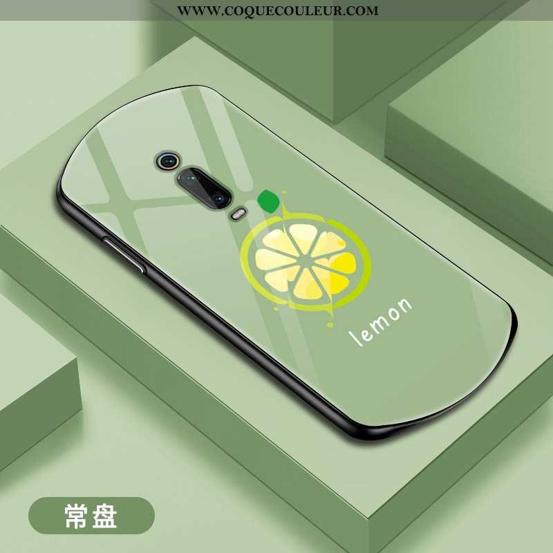 Étui Xiaomi Mi 9t Pro Verre Protection, Coque Xiaomi Mi 9t Pro Personnalité Incassable Verte