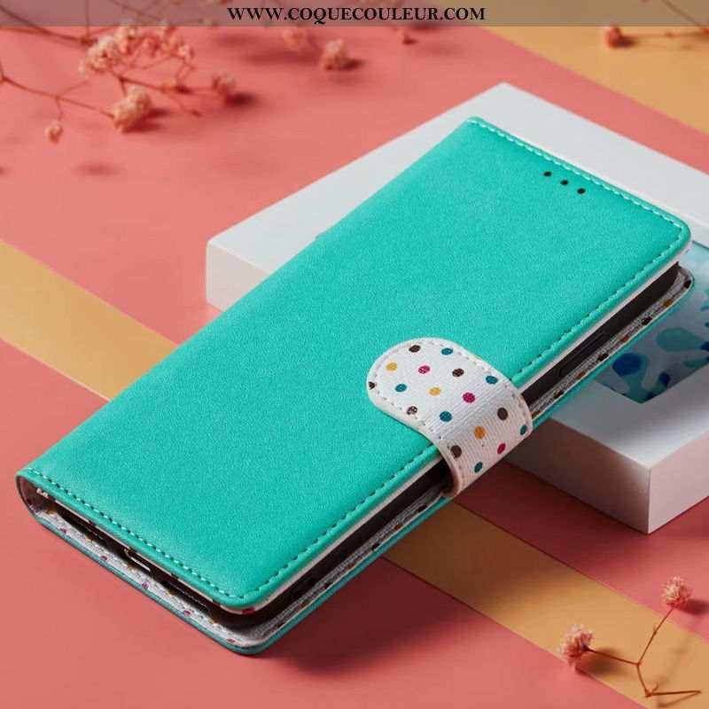 Étui Xiaomi Mi 9t Cuir Véritable Bleu Téléphone Portable, Coque Xiaomi Mi 9t Ornements Suspendus Pet