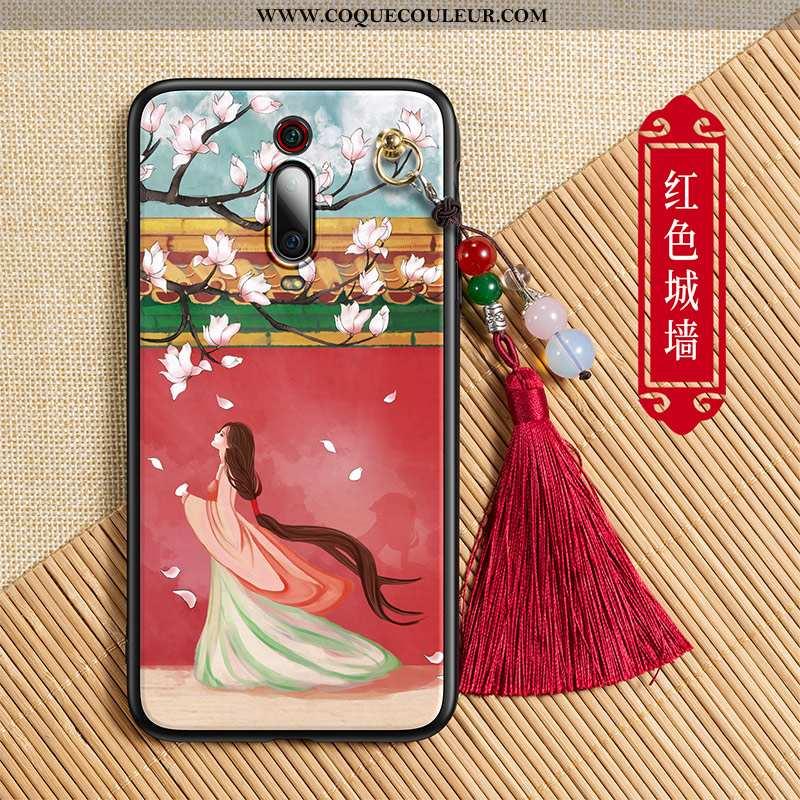 Étui Xiaomi Mi 9t Créatif Tout Compris Rouge, Coque Xiaomi Mi 9t Tendance Palais Rouge