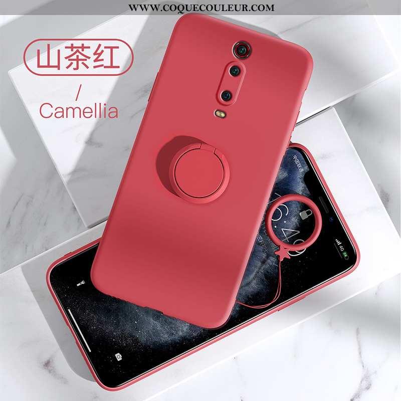 Étui Xiaomi Mi 9t Protection Coque Incassable, Xiaomi Mi 9t Silicone Rouge
