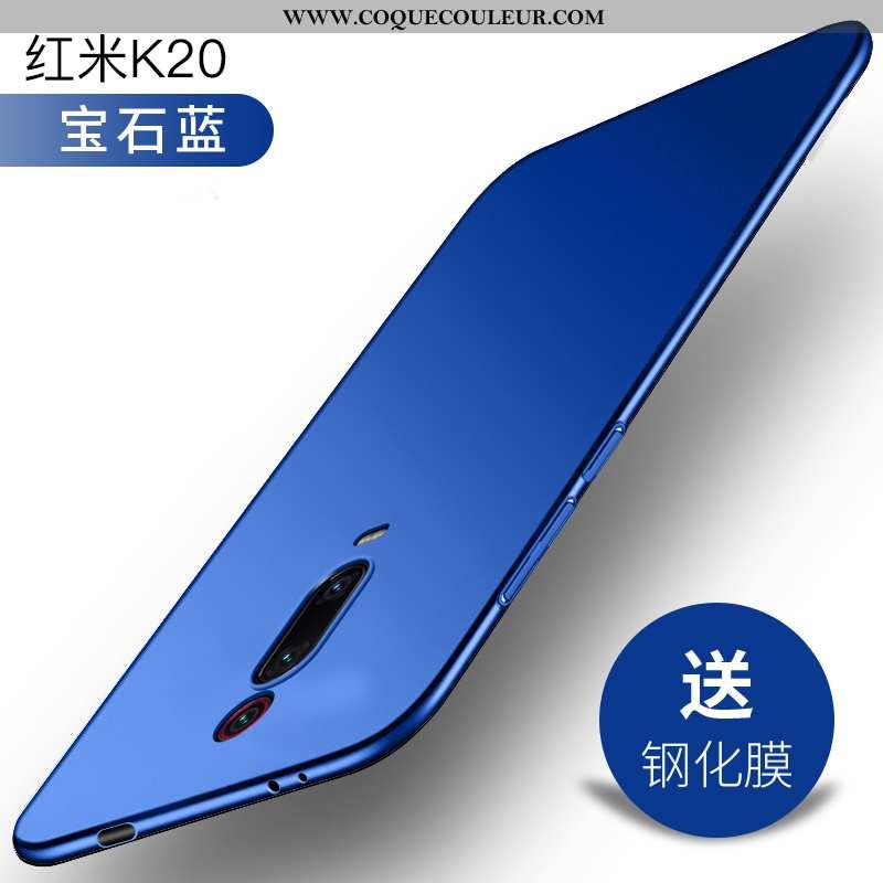 Housse Xiaomi Mi 9t Délavé En Daim Étui Ultra, Xiaomi Mi 9t Personnalité Protection Bleu