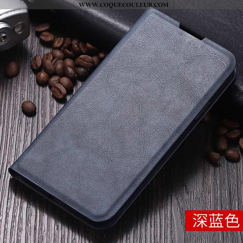 Coque Xiaomi Mi 9t Silicone Étui Clamshell, Housse Xiaomi Mi 9t Protection Petit Bleu Foncé