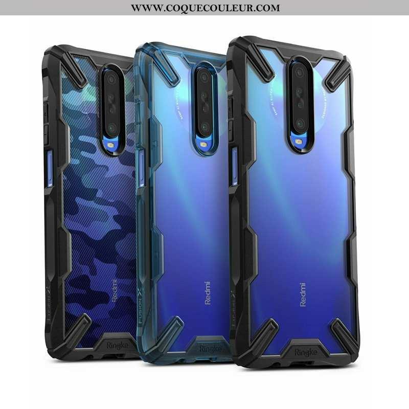 Coque Xiaomi Mi 9t Tendance Transparent Noir, Housse Xiaomi Mi 9t Fluide Doux Téléphone Portable Noi