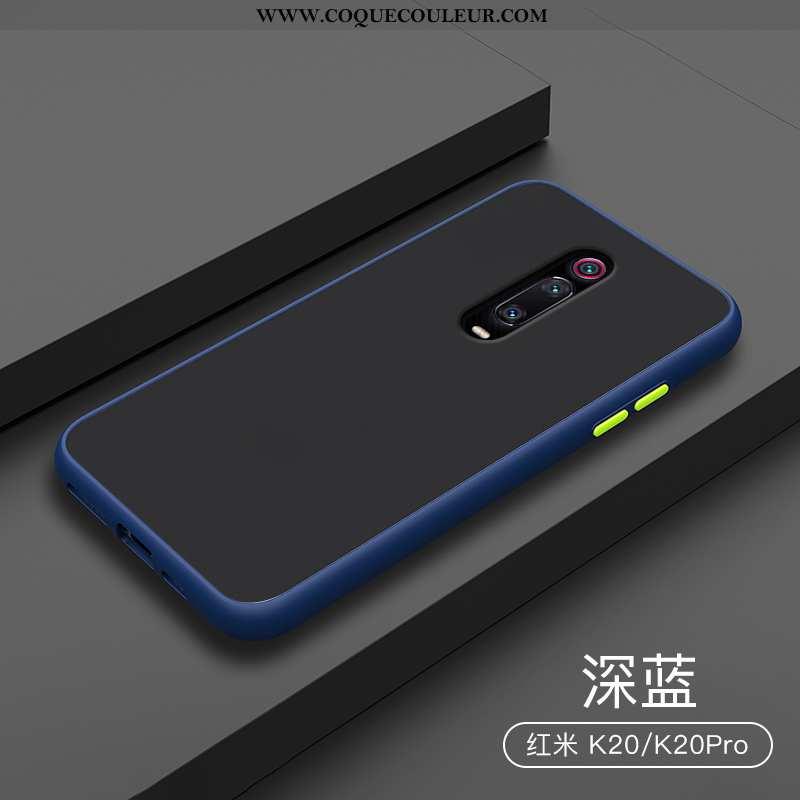Étui Xiaomi Mi 9t Créatif Transparent Délavé En Daim, Coque Xiaomi Mi 9t Silicone Incassable Bleu Fo