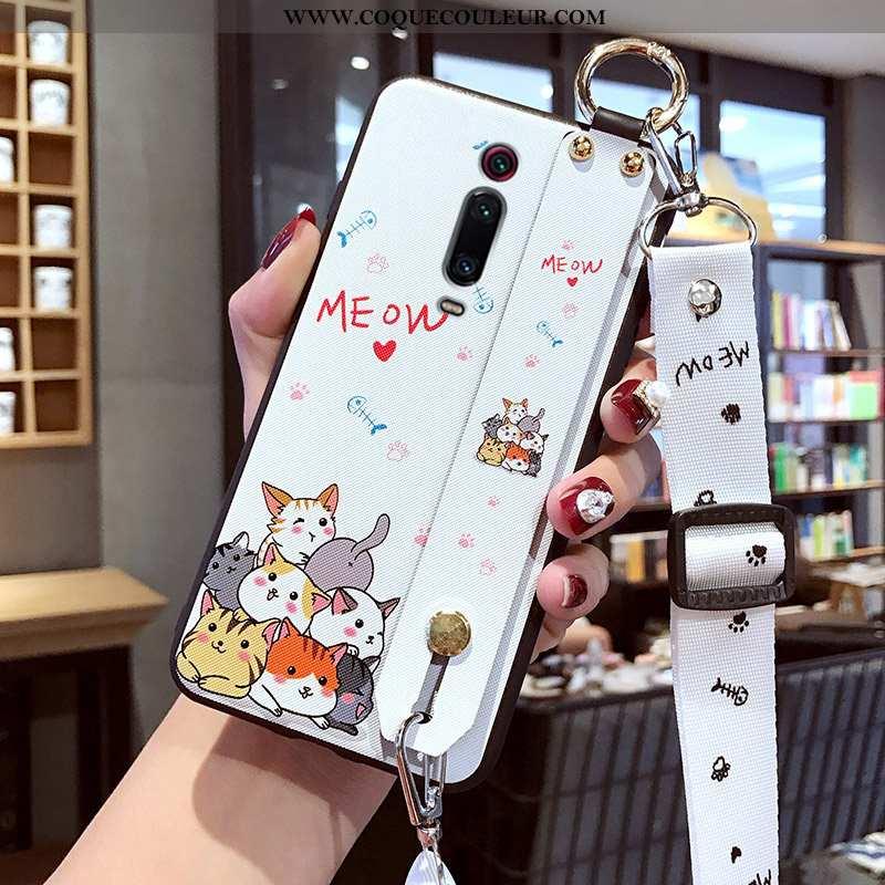 Housse Xiaomi Mi 9t Délavé En Daim Incassable Petit, Étui Xiaomi Mi 9t Dessin Animé Tout Compris Bla