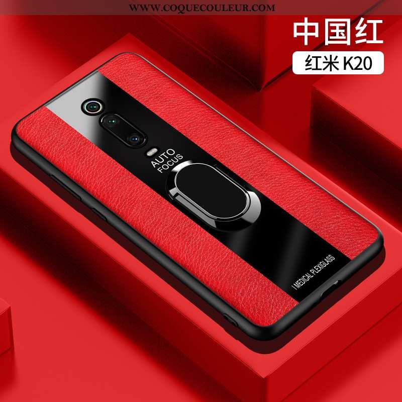 Étui Xiaomi Mi 9t Ultra Anneau, Coque Xiaomi Mi 9t Légère Protection Rouge