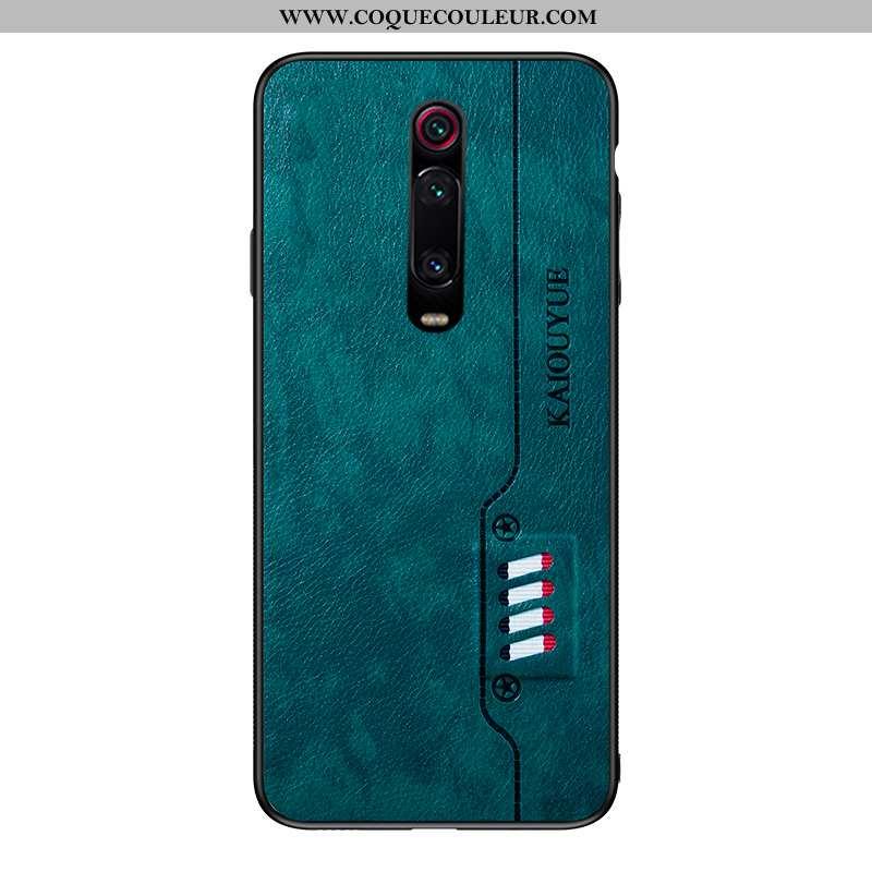 Coque Xiaomi Mi 9t Ultra Cuir Incassable, Housse Xiaomi Mi 9t Légère Téléphone Portable Verte