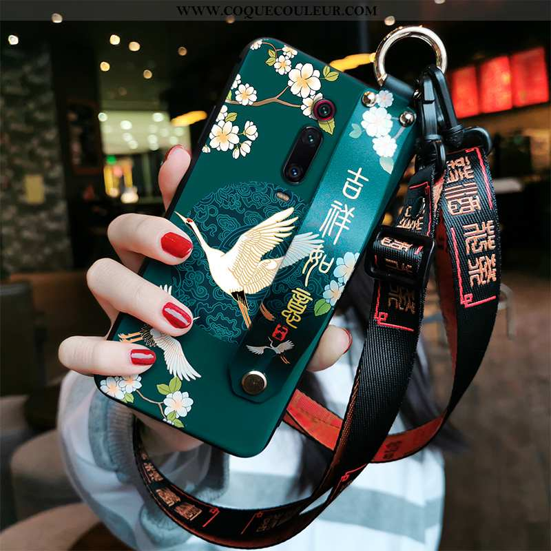 Housse Xiaomi Mi 9t Tendance Vert Tout Compris, Étui Xiaomi Mi 9t Fluide Doux Rouge Verte