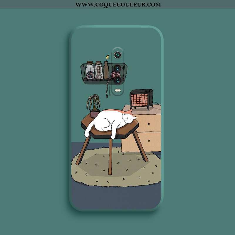 Étui Xiaomi Mi 9t Légère Petit Téléphone Portable, Coque Xiaomi Mi 9t Fluide Doux Charmant Verte