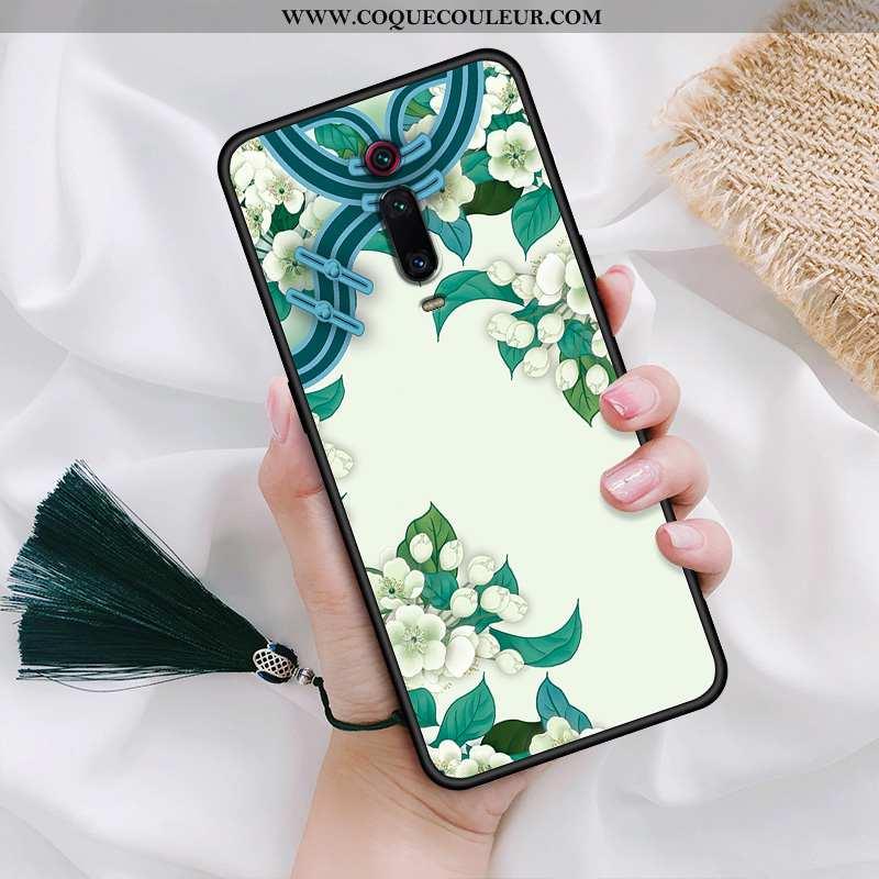 Étui Xiaomi Mi 9t Personnalité Téléphone Portable Pivoine, Coque Xiaomi Mi 9t Créatif Vert Verte