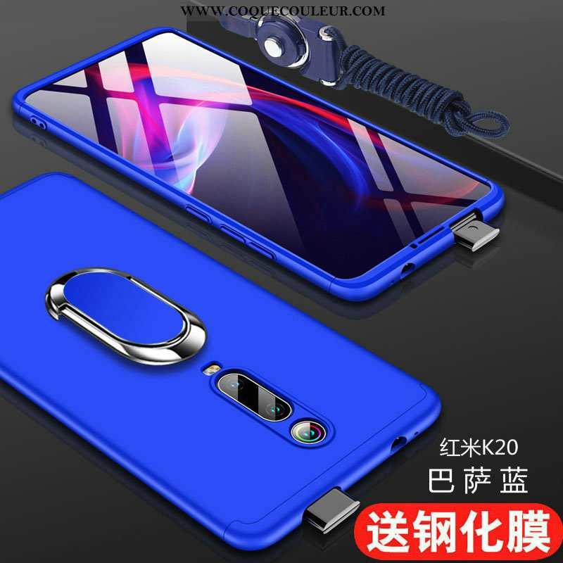 Étui Xiaomi Mi 9t Protection Tendance Tout Compris, Coque Xiaomi Mi 9t Délavé En Daim Difficile Bleu