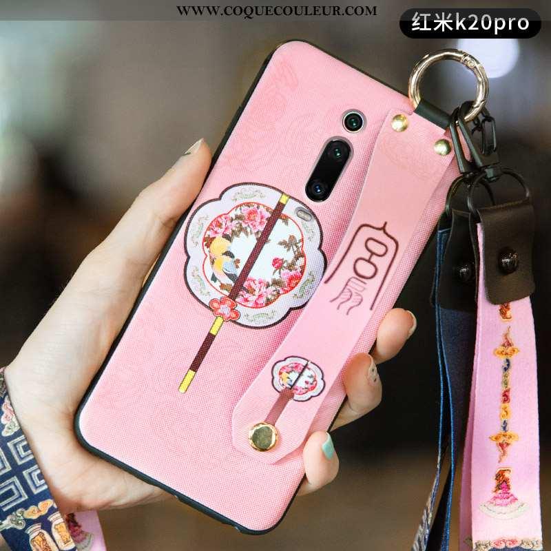 Étui Xiaomi Mi 9t Légère Incassable Petit, Coque Xiaomi Mi 9t Silicone Vent Rose