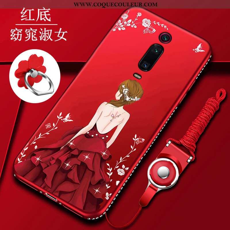 Étui Xiaomi Mi 9t Ultra Fluide Doux Rouge, Coque Xiaomi Mi 9t Tendance Tout Compris Rouge