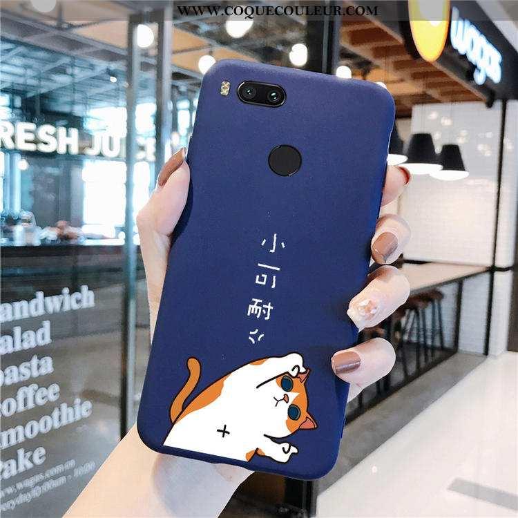 Housse Xiaomi Mi A1 Dessin Animé Tout Compris Amoureux, Étui Xiaomi Mi A1 Silicone Petit Bleu