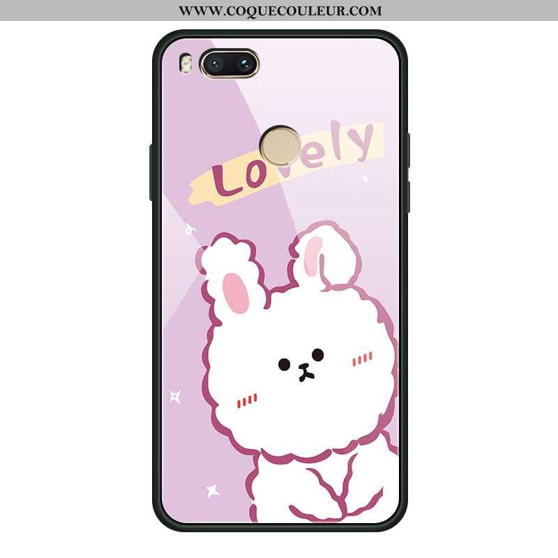 Étui Xiaomi Mi A1 Dessin Animé Amoureux Coque, Coque Xiaomi Mi A1 Charmant Téléphone Portable Rose