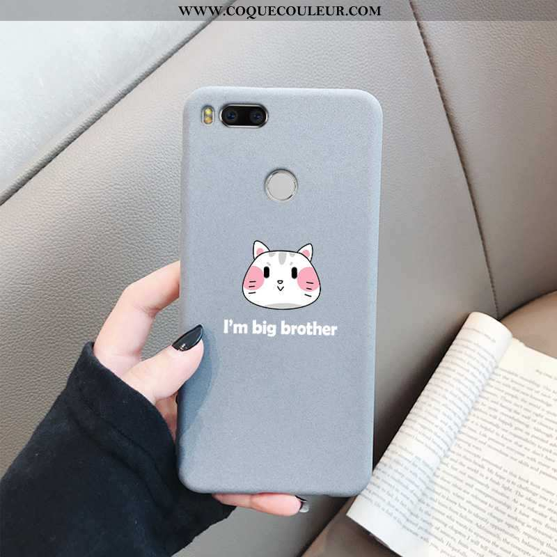 Étui Xiaomi Mi A1 Fluide Doux Délavé En Daim Étui, Coque Xiaomi Mi A1 Protection Gris