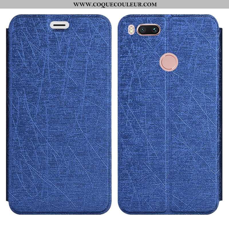Étui Xiaomi Mi A1 Silicone Coque Incassable, Xiaomi Mi A1 Protection Bleu