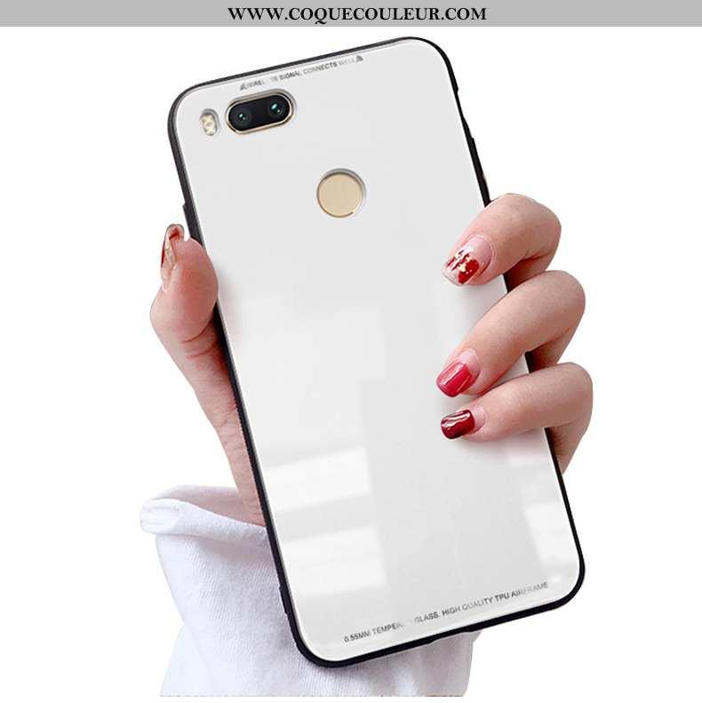 Étui Xiaomi Mi A1 Personnalité Coque Téléphone Portable, Xiaomi Mi A1 Verre Blanc Blanche